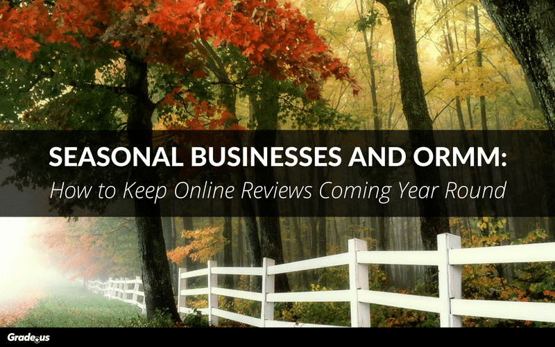 Seasonal Businesses and ORMM