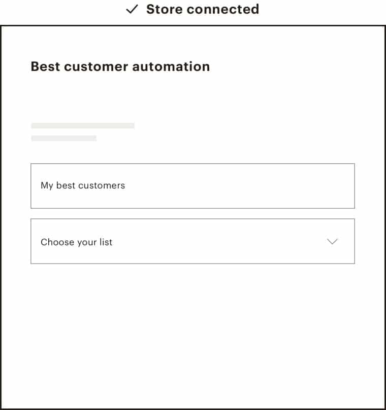 segmentation automation form from Mailchimp