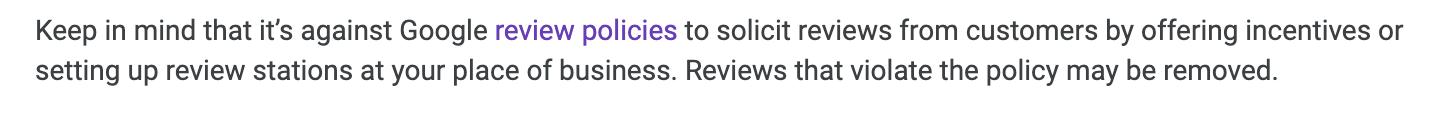 incentives for google reviews.