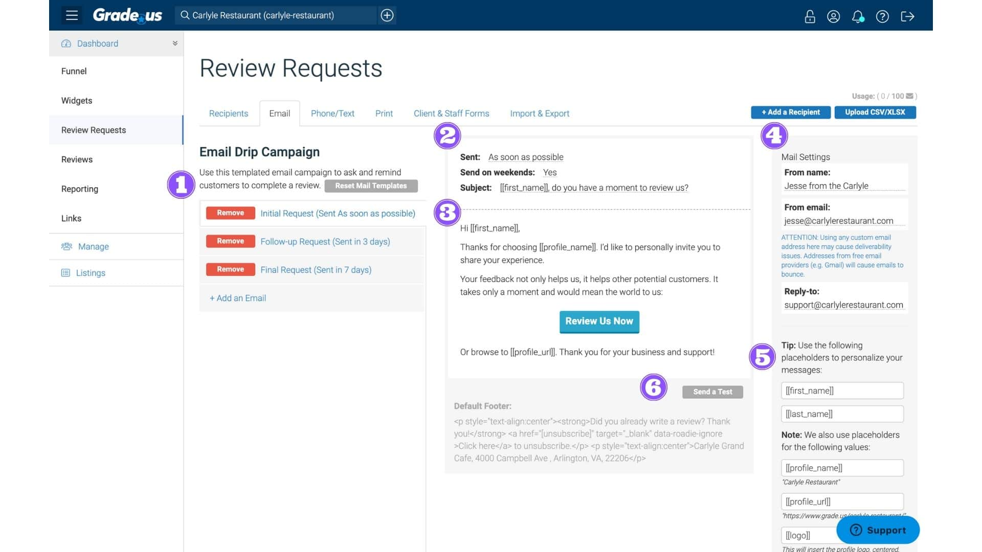 review request steps