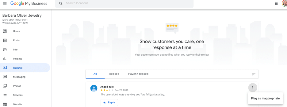 Google My Business flag review